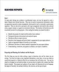 10 sample business report free sample example format