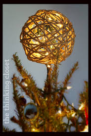 glitter twine ornament tutorial the thinking closet