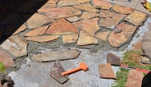 How To Make A Flagstone Patio With Sand Building A Flagstone Patio Amazing Home Design