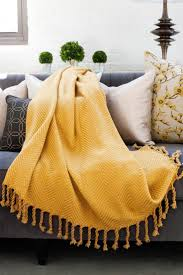 rust colored throw blanket