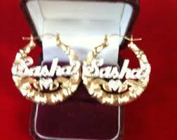 hoop earrings with name name hoop earrings etsy