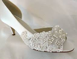 Wedding Shoes Ivory Lace Wedding Shoes Low Heel Wedding Shoes Wedding Ideas And