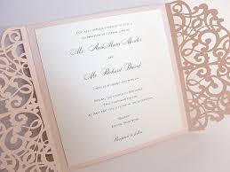 Wedding Stationery Blush Pink Laser Cut Wedding Invitation