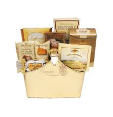 high end gift baskets gift of gold gourmet gift basket by pompei baskets