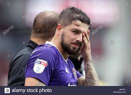 Challenge Injury Sheffield United S Kieron Freeman With An Injury To His Forehead