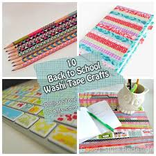 10 washi crafts for back to school dollar store crafts