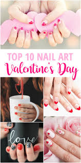 top 10 valentine u0027s day nail art pinned and repinned