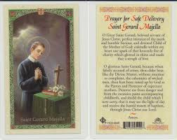 prayer card st gerard holy card prayer for women
