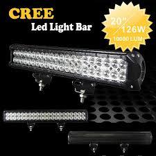 20 Led Light Bar by New 20 126w Cree 42led 3w Work Light Bar Off Road Suv Atv 4wd 4x4