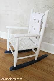 Nursery Furniture Rocking Chairs Ten June Multi Colored Spray Painted Rocking Chair A Nursery Diy