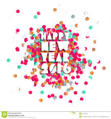 happy new year 2016 confetti poster stock vector