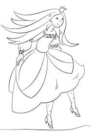 dancing princess coloring free printable coloring pages