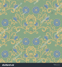 floral seamless pattern vintage rapport flowers stock vector