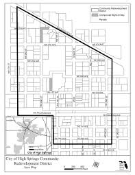 community redevelopment agency city of high springs cra map