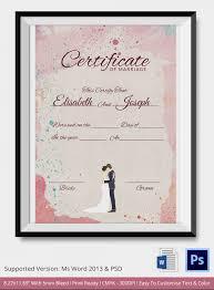 marriage certificate template birth certificate template pdf