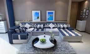 canape tissu rayures bisini style méditerranéen salon canapé ensemble contemporain bleu
