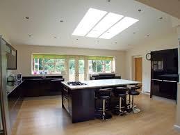 open plan kitchen design ideas photo of open plan beige brown white granite curved kitchen with