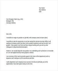 27 resignation letter templates and examples free u0026 premium