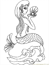 coloring pages beautiful free printable mermaid coloring pages