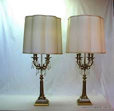 italian vintage candelabrum crystal and metal table lamps sold