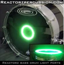 how to put led lights into a drum kit and on cymbal stands