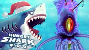 Shark Map Of The World by Giant Squid Boss Battle Hungry Shark World Ep 34 Hd Youtube