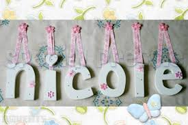 Ideas For Letters Ideas For Wooden Letters For Baby Room With Pink