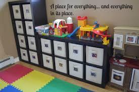 modern kids room with wooden kids toy storage bins brown toddler