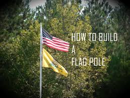 how to build a flagpole for your yard youtube
