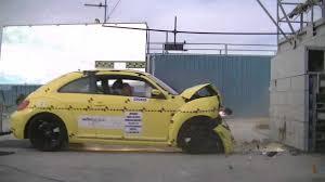 volkswagen beetle side view vw beetle 2013 frontal crash test nhtsa crashnet1 youtube
