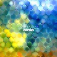 abstract blue yellow hexagon pattern background design