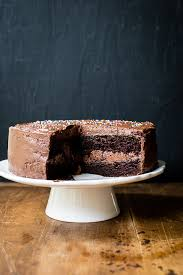 cake with chocolate buttercream frosting the merry gourmet