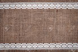 burlap and lace ribbon burlap background with white lace ribbon stock photo picture and