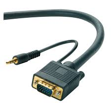 vga 3 5mm stereo audio male to male monitor projector cable 50