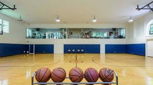 Indoor Wall Mounted Basketball Hoop For Boys Room 10 Long Island Homes For Sale With Over The Top Basketball Courts