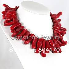 large red beads necklace images Natural red large size rare coral necklace jewelry 20 25mm jpg