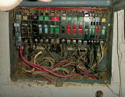 breaker panels with a jumble of old wires top need to be checked carefully