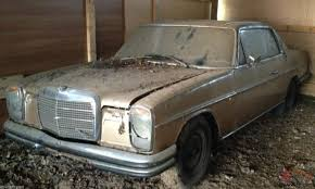 classic mercedes coupe mercedes benz w114 w115 classic tax exempt coupe barn find
