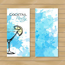 blue cocktail party banner u2014 stock vector o ta 85188780