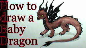 how to draw a dragon baby youtube