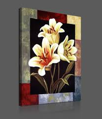 Flower Home Decoration by Flower Paintings On Canvas Pieces Modern Canvas Painting Flowers