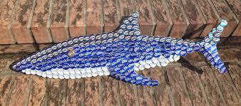 how much does a pallet of bud light cost my handmade bottle cap brew shark made out of flattened bud light