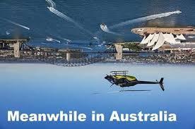 Australia Meme - flat earthers in christ facebook meme about australia is upside down