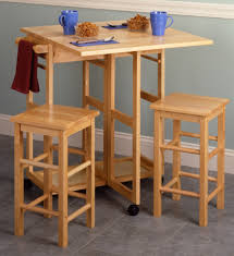 Space Saver Kitchen Table Multifunctional Kitchen Cart With Stools For Your Home Modern
