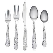 zehira frost 42 pc flatware set with buffet server
