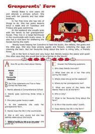 reading comprehension worksheet sample haseena nitespattana
