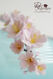 cherry blossom hair comb dk designs