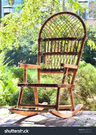 Garden Rocking Chair by Rocking Chair On Porch Country House Stock Photo 118527919
