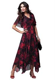 black and red plus size dresses with sleeves size up to 34