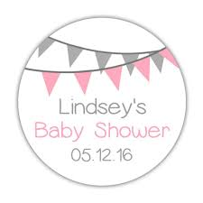 baby shower stickers bunting dazzling daisies